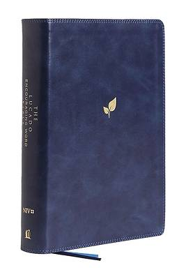 Picture of NIV Lucado Encouraging Word Bible, Blue, Leathersoft, Comfort Print