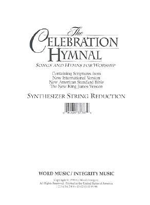 Celebration Hymnal Synthesizer String Reduction CD-ROM (PDF)