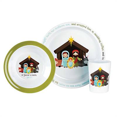Children's 3 piece Nativity Place Setting