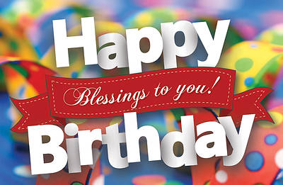 Picture of Happy Birthday Blessing to You Postcard Pkg of 25