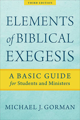Picture of Elements of Biblical Exegesis