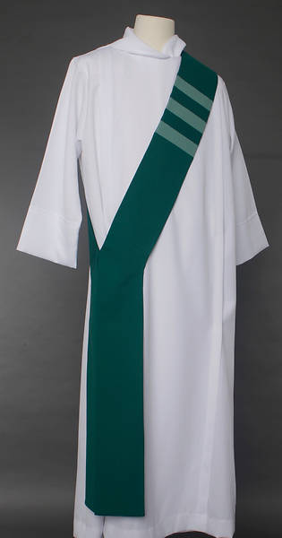 Picture of Trinity Stripe Deacon Stole - Green