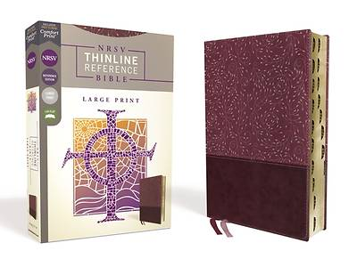 NRSV Thinline Reference Bible, Large Print, Leathersoft, Burgundy, Indexed, Comfort Print