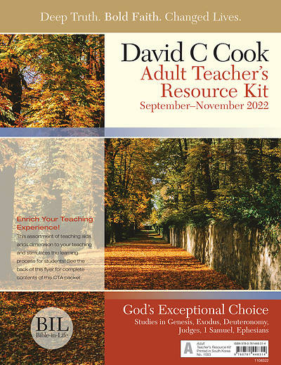 Bible-In-Life Adult Teachers  Resource Kit Fall