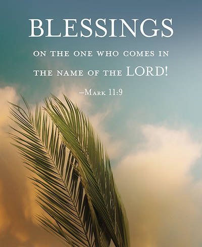 Blessings Palm Sunday Bulletin, Large (Pkg of 50)