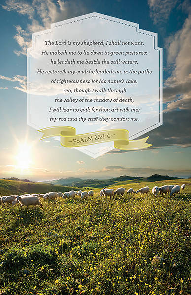 Psalm 23 Bulletin  - Package of 100
