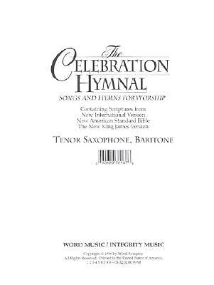 Celebration Hymnal Tenor Sax/Baritone 1&2/Melody CD-ROM (PDF)