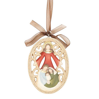Holy Family Resin Oval Ornament