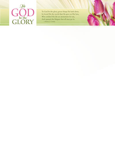 To God Be The Glory Easter Letterhead