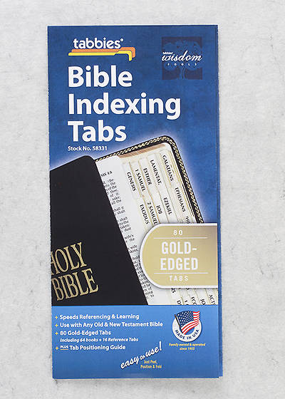 Index Tabs Bible Gold Edge