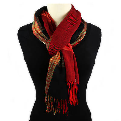 Thai Lightweight Shawl - Red