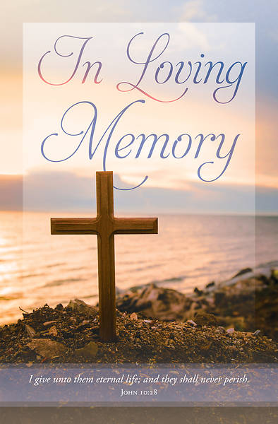 Picture of In Loving Memory Cross Funeral Regular Size Bulletin