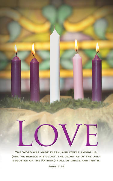 Picture of Love Advent Wreath Regular Size Bulletin