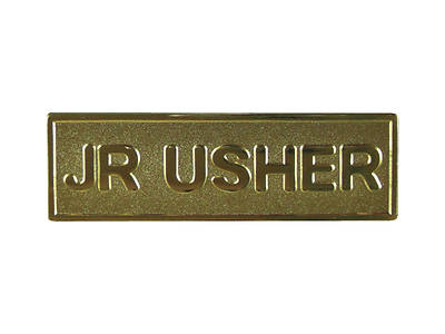 Picture of Gold Metal Junior Usher Pin-On Badge