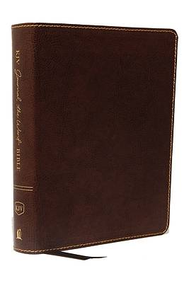 Picture of KJV, Journal the Word Bible, Bonded Leather, Brown, Red Letter Edition, Comfort Print