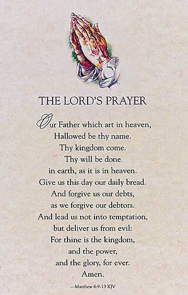 Lords Prayer Parchment Bulletin, Regular Size (Package of 50)