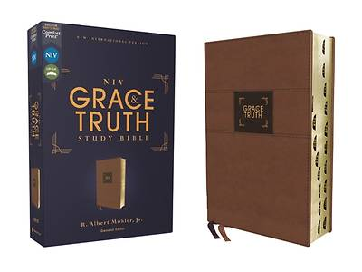 Picture of Niv, the Grace and Truth Study Bible, Leathersoft, Brown, Red Letter, Thumb Indexed, Comfort Print