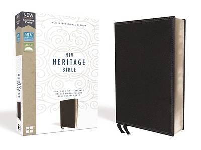 NIV, Heritage Bible, Deluxe Single-Column, Imitation Leather, Black, Comfort Print