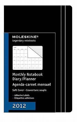 Moleskine Monthly Notebook Diary/Planner, Black, Soft Cover, Large