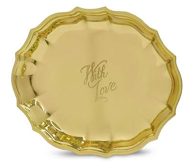 With Love Gift Tray - Brass