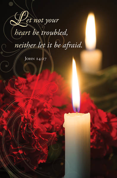 Let Not Your Heart Be Troubled Funeral Regular Size Bulletin