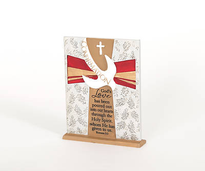 Resin Tabletop Confirmation Plaque