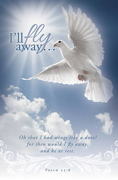Funeral Bulletin Ill Fly Away (Package of 100)