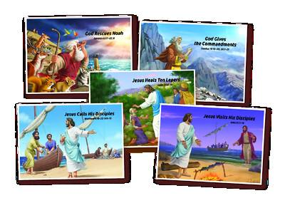 Picture of Vacation Bible School (VBS 2020) Bible Story Posters Set of 5