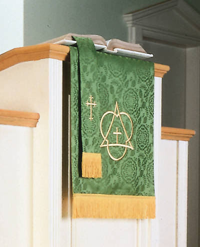 Picture of Abbott Hall TRN Green Trinity Two-Piece Parament Set