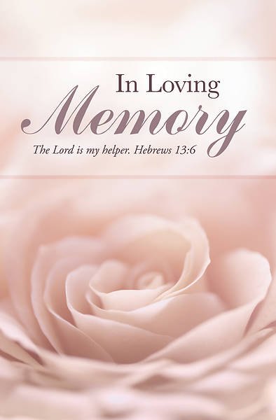 Picture of In Loving Memory Flower Funeral Regular Size Bulletin
