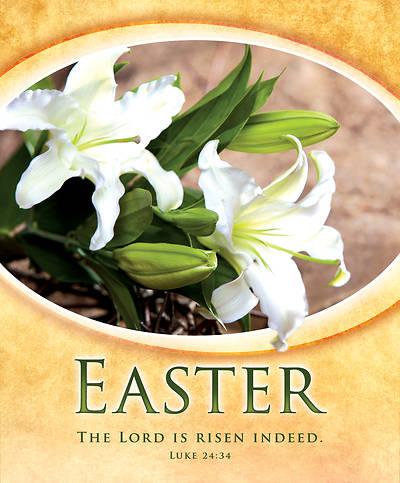 Picture of The Lord is Risen Indeed Easter Legal Size Bulletin