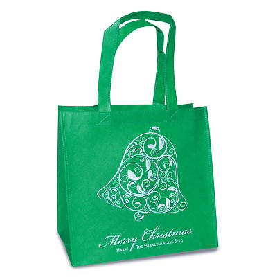 Picture of Eco Tote: Green - Merry Christmas Bell