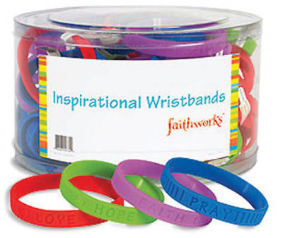 Inspirational Wristbands - Tub of 80