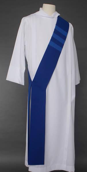 Picture of Trinity Stripe Deacon Stole - Blue