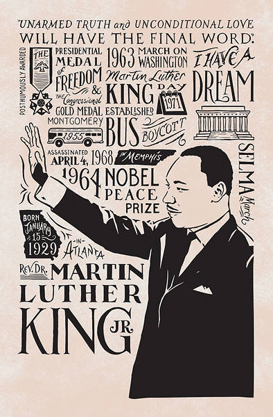 Picture of Martin Luther King Jr. Black History Month Regular Size Bulletin