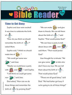Standards HeartShaper Early Elementary Weekly Bible Reader Take Home Pages Winter 2012-13 (pack of 5)