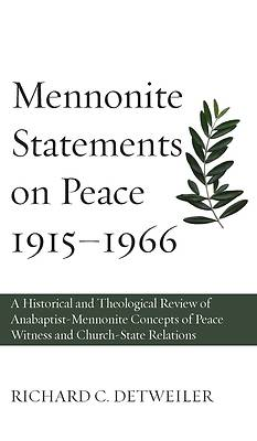 Picture of Mennonite Statements on Peace 1915-1966