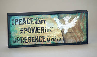 """Peace, Power, Presence"" Mini Plaque"