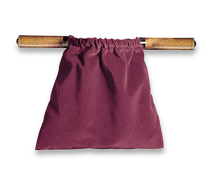Picture of Artistic Maroon Two-Handled Offering Bag