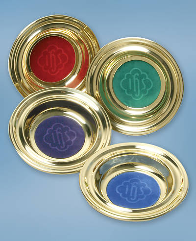 Deluxe Offering Plate Set with Interchangeable Mats