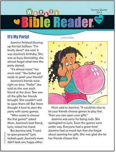 Standards HeartShaper Early Elementary Weekly Bible Reader Take Home Pages Summer 2013 (pack of 5)