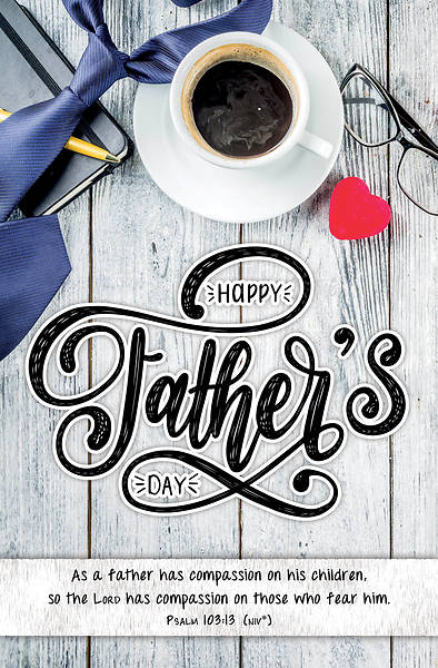 Picture of Happy Father's Day Regular Size Bulletin (Pkg of 100)