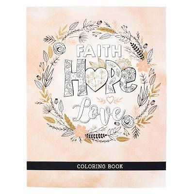 Coloring Book Faith Hope Love