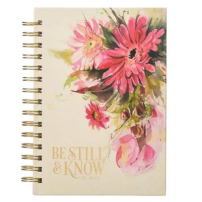 Picture of Large Wire Journal Be Still & Know Floral Psalm 46