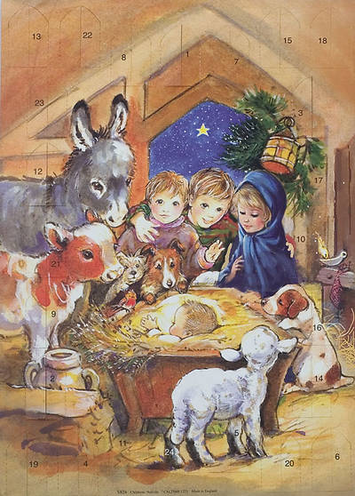 Picture of Children's Nativity 2010 Advent Calendar with Envelope