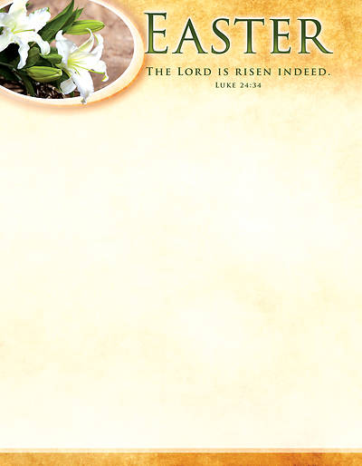 Picture of The Lord is Risen Indeed Easter Letterhead
