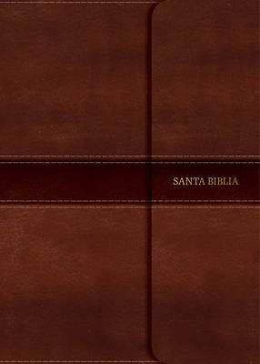Picture of NVI Biblia Letra Grande Tamano Manual, Marron Simil Piel Con Indice y Cierre