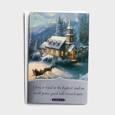 Picture of Thomas Kinkade Glory To God Christmas Cards