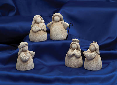 Sand Gold Glitter Nativity Set (5 Pieces)