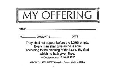 My Offering Economy Offering Envelope (Box of 500)